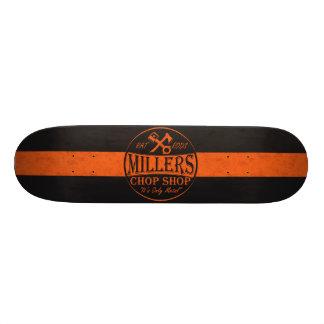 Orange Rat Rods Logo Skate Board