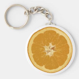 orange. realistic. basic round button keychain