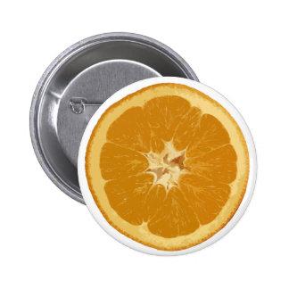 orange. realistic. button