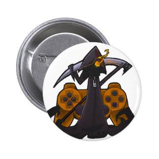 Orange Reaper Badge Pins