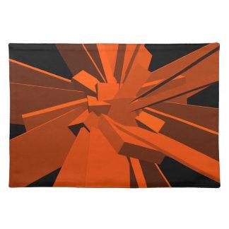 Orange Rectangles Cloth Placemat