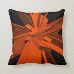 Orange Rectangles Throw Pillow