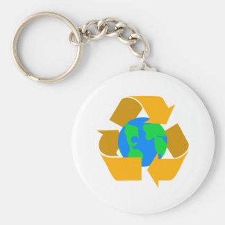 orange recycle keychain