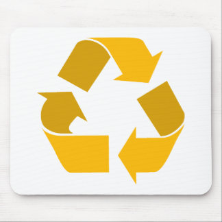 orange recycle mouse pad