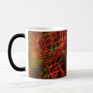 Orange Red and green Abstract Magic Mug