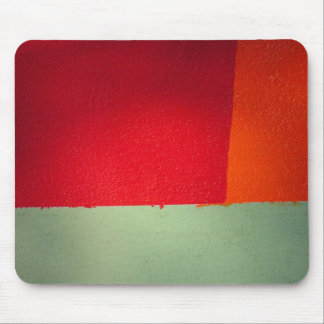 orange red and green abstract mousepad
