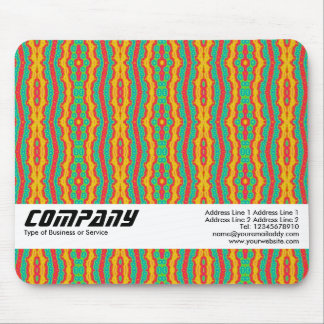 Orange Red and Green, Business Mouse Pad