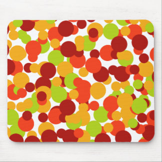 Orange, red and green confetti mouse pad