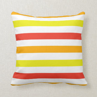Red And Yellow Decorative Pillows : Orange And Yellow Stripes Pillows - Decorative & Throw Pillows Zazzle