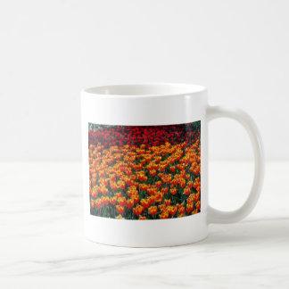 Orange Red and yellow tulips flowers Mugs
