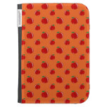Orange red apple pattern case for the kindle