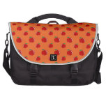 Orange red apple pattern commuter bag