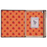 Orange red apple pattern iPad case