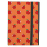 Orange red apple pattern iPad cover