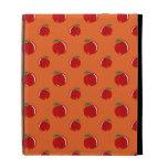 Orange red apple pattern iPad folio case