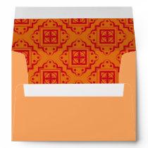 Orange & Red Arabesque Moroccan Graphic Envelope
