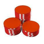 Orange Red Background Poker Chip Set