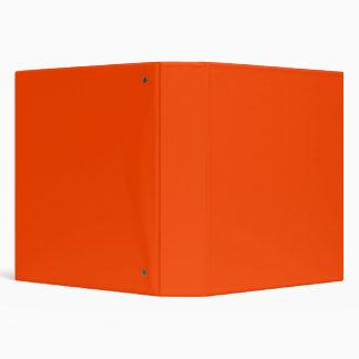 Orange Red 3 Ring Binder