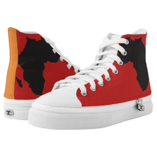 Orange & Red Boss shoes by Terrance L Burton Jr.