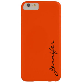 Orange-red color background barely there iPhone 6 plus case