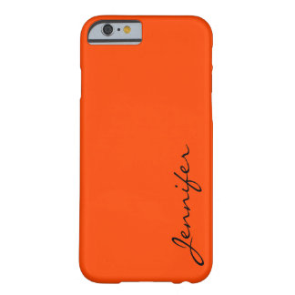 Orange-red color background barely there iPhone 6 case