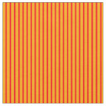 [ Thumbnail: Orange & Red Colored Pattern of Stripes Fabric ]