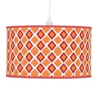 Orange Red Diamond Ikat Pattern