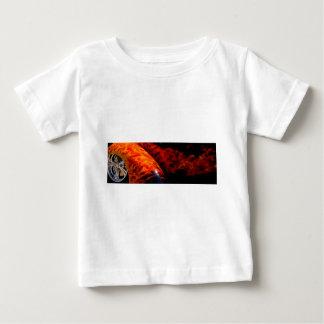 Orange Red Flames Paint Classic Car Bumper Baby T-Shirt