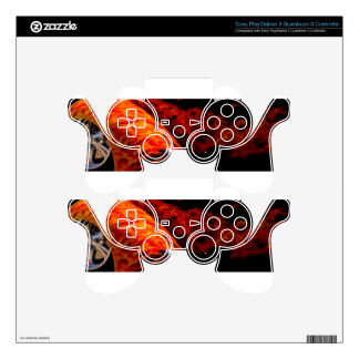 Orange Red Flames Paint Classic Car Bumper PS3 Controller Skin