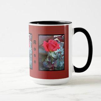 Orange Red Flower Mug