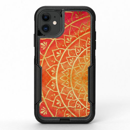 Orange Red Gold Colorful Autumn Mandala OtterBox Commuter iPhone 11 Case