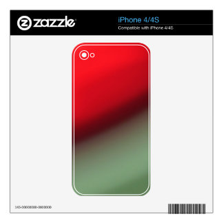 Orange Red Green Decals For iPhone 4