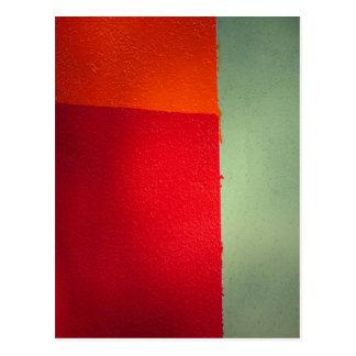 orange red green - on a postcard