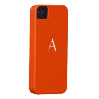 Orange Red iPhone4 Monogram Case iPhone 4 Cover