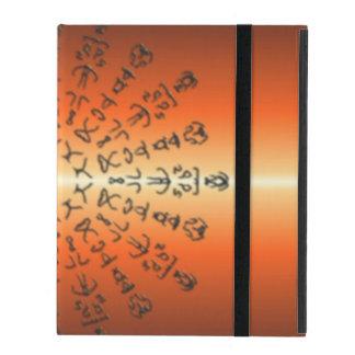 Orange/red Pattern with strange sign iPad Folio Cases