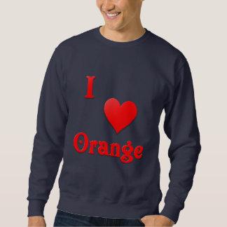 Orange -- Red Pullover Sweatshirt