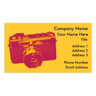 Orange & Red Retro Camera Design Double-Sided Standard Business Cards (Pack Of 100)