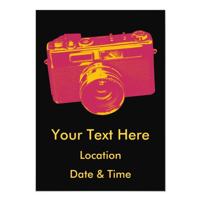 Orange & Red Retro Camera Design Card
