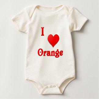 Orange -- Red Romper