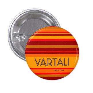 Orange Red Stripe Vartali Round Button