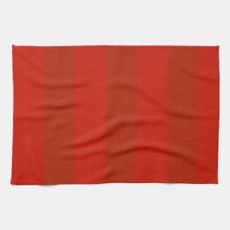 Orange Red Stripes Towels
