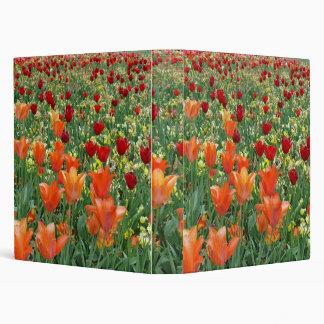 Orange & Red Tulips 3 Ring Binder