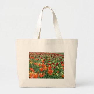 Orange & Red Tulips Canvas Bag