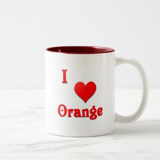 Orange -- Red Two-Tone Coffee Mug