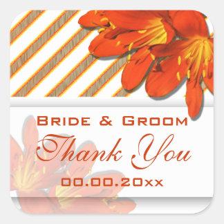 Orange red wedding country garden stickers