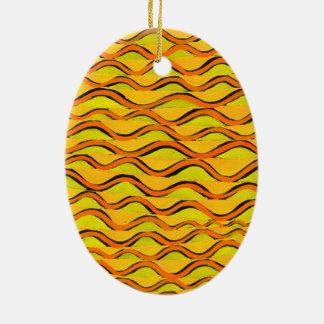 orange redlines that can't sees crossed ceramic ornament