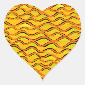 orange redlines that can't sees crossed heart sticker