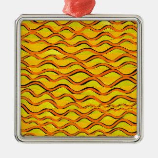orange redlines that can't sees crossed metal ornament