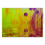 Orange Reflection Orange and Red Abstract Art Greeting Cards