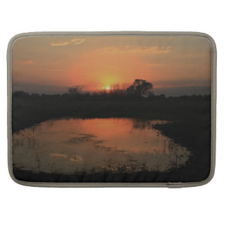 Orange Reflection Sunset Rickashaw Laptop Case. MacBook Pro Sleeve